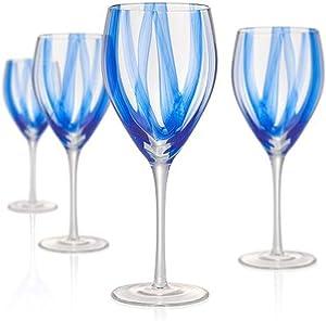 Artland Waterfall Glass 16 Ounce Goblet, Set of 4