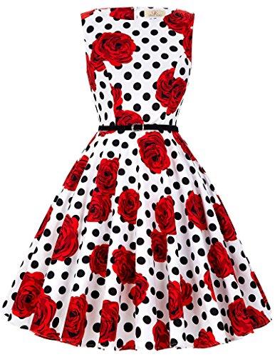 50s style boat neck dress - 1