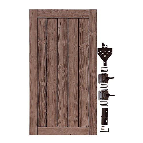 - SimTek 3 ft. W x 6 ft. H Ashland Red Cedar Composite Privacy Fence Gate