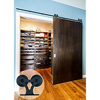 CCJH T Shaped With Two Rollers Sliding Barn Wood Closet Door Interior Door  Sliding Track