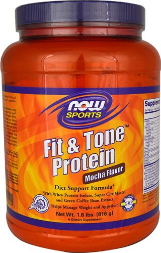NOW Foods Fit & ToneT Protein Mocha -- 22 Servings - 3PC by Now Sports