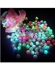 Shoplifemore Mini lampki LED balony papierowe lampiony światła do latarni światło kwiatowe ślub papier przyjęcie dekoracja (zielony, 10 szt.)