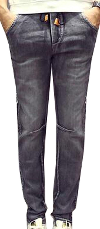 Goocyber Men's Ripped Denim Skinny Pants Casual Jean Joggers Pants