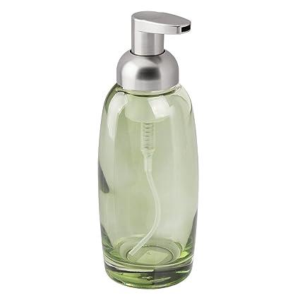 InterDesign - Ariana - Dosificador de jabón-Espuma, de Vidrio - Verde/Pulido