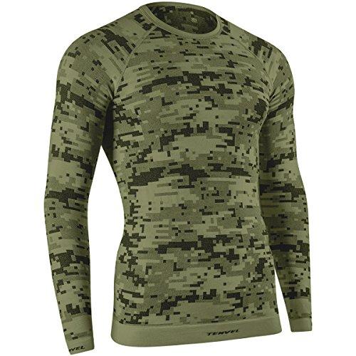 Tervel Herren Optiline Digital Shirt Langarm Military/Grau