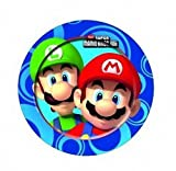8 Super Mario Bros Wii Party Large 9 Disposable Paper Plates by Gemma