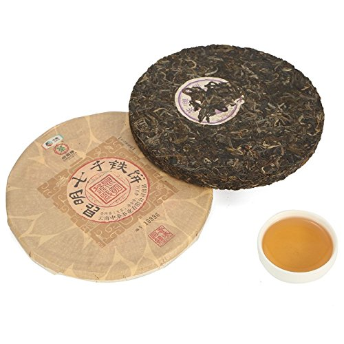Yunnan Pu'er Tea Kunming Qizi Discus Tea Raw Tea 400g Pu'er Tea Pu'er Tea 云南普洱茶 昆明七子铁饼 生茶 400g普洱茶 普洱生茶 puerh tea puer tea