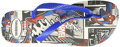 Tongs Spiderman Hommes Havaianas (45 Br / 13 D (m) Nous, Blanc)