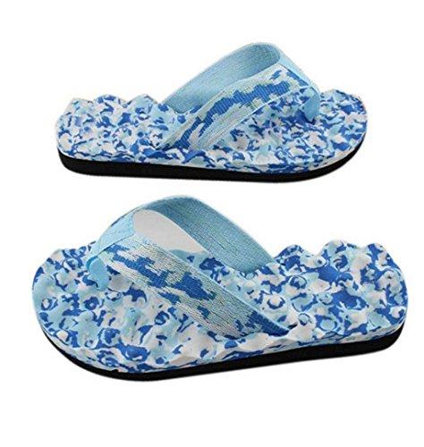 Badelatschen Flip Hausschuh ZEZKT Pool Badeschuhe Leicht Sommer Bequeme Schuhe Casual Strand Blau Slipper Flop Schuhe Zehentrenner Beach Rutschfest Schuhe Damen Für Pantoletten 5rq6xrRw