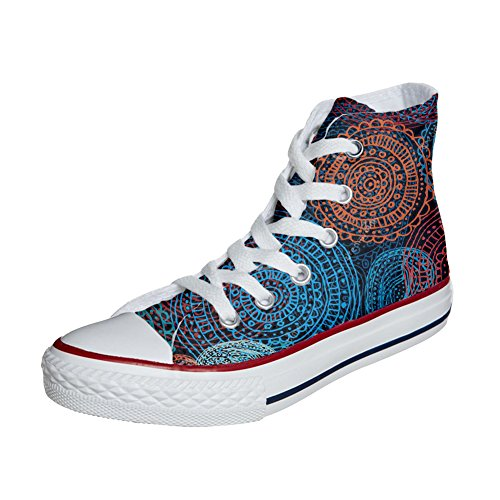Artesano personalizadas zapatos Paisley Star All Producto Converse Back Groud xCBq4nF
