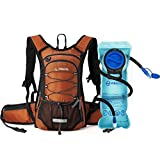 MIRACOL Hydration Backpack with 2L BPA Free Water Bladder, Thermal Insulation Pack Keeps Liquid Cool up to 4 Hours, Perfect Outdoor Gear for Hiking, Cycling, Camping, Running (Dark Orange)
