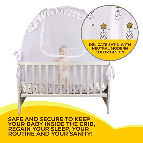 Nahbou Baby Crib Pop Up Tent: Infant Bed Safety Canopy Cover