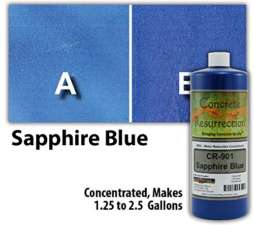 Water Reducible Concentrate (WRC) Concrete Stain - Sapphire Blue (Blue Concrete)