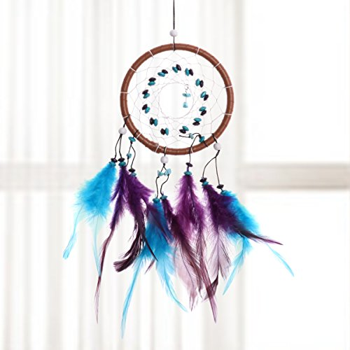 CHICTRY Traditional Dream Catcher Wall Hanging Decoration Handmade Delicate 1 Circle Dream Catcher Net Car Hanging Home Decoration Ornament Gift Colorful One Size by CHICTRY (Image #7)