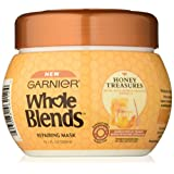 Garnier Whole Blends Honey Treasures Repair Hair Mask. For Damaged, Brittle Hair, Paraben-Free, 300 ml