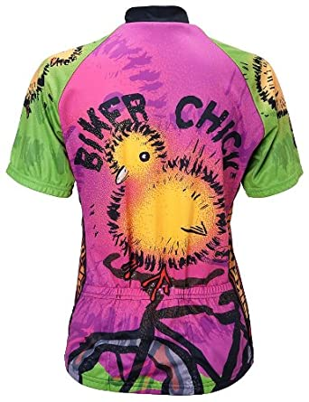 851db1ba4 Amazon.com  Biker Chick - Chick on a Bike Womens Cycling Jersey  Sports    Outdoors