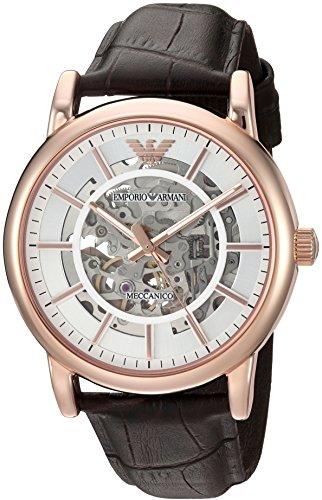 - Emporio Armani Men's AR1983 Dress Brown Leather Watch