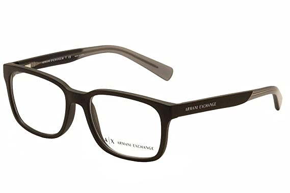Amazon.com: Armani Exchange AX3029 Eyeglass Frames 8182-54 - Matte ...