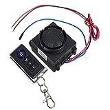 Shsyue Motorcycle Anti theft Security Alarm System Vibration Detector Remote Control 120-125dB 12V