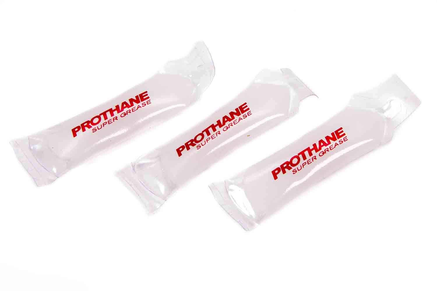 Prothane Grease, Super, Silicone/PTFE, 1/2 oz Packet, Polyurethane/Rubber Bushings, Set of 3, red (19-1750)
