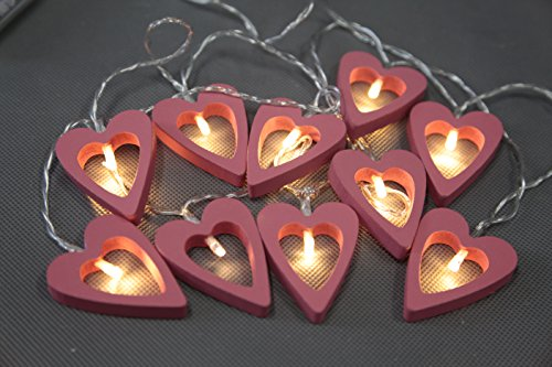 Wooden Heart Led Lights