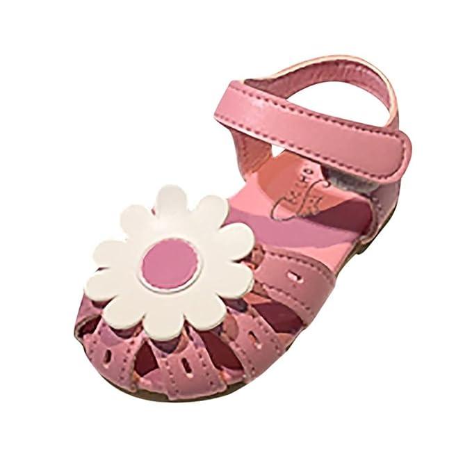 41906299b9501 Amazon.com: FORESTIME_baby shoes Newborn Baby Girls Flower Close Toe ...
