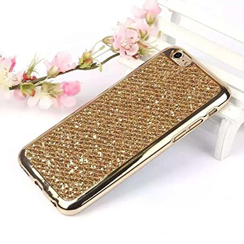 Funda iPhone 6S plus Cover iPhone 6 plus,Ukayfe Funda de Silicona TPU para iPhone 6/6S plus Carcasa Transparente Soft Clear Case Cover Funda Blanda Flexible Carcasa Delgado Ligero Caja Anti Rasguños A Bling Or