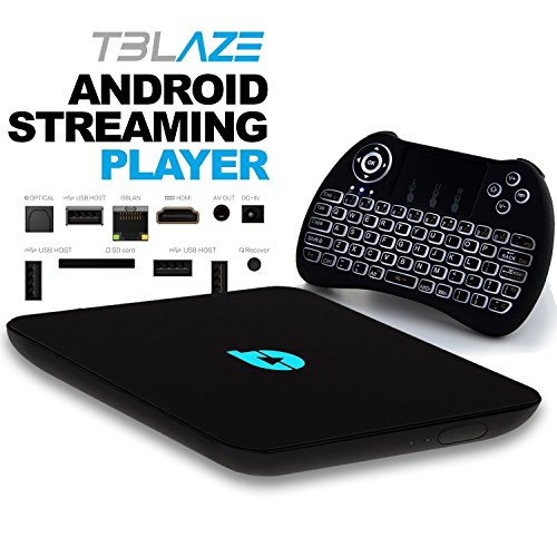 Tblaze Android TV Box Amlogic S912 Octa-core CPU 64-Bit 4K/3D/2GB/16GB AC Wireless Dual Band WiFi 2.4GHz/5GHz Ready To Stream Media Center,Keyboard Remote,Updated Version Realtime Firmware Updates by Tblaze (Image #1)