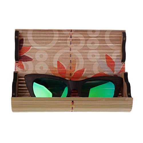 boîte Protecteur Soleil MagiDeal Uv de Boîtier Lunette vert Soleil 400 de Unisexe Lunettes Vintage Étuis de qwwO6xH