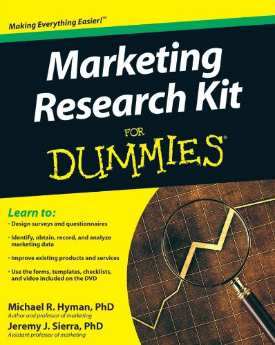 (Marketing Research Kit For Dummies)