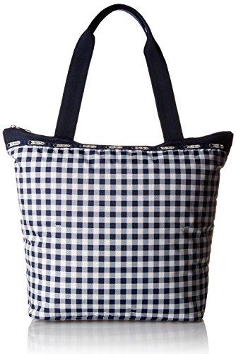 LeSportsac Hailey Tote Handbag, Gingham Classic Navy, One Size ()