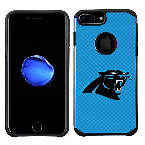 Prime Brands Group Cell Phone Case for Apple iPhone 8 Plus/iPhone 7 Plus/iPhone 6S Plus/iPhone 6 Plus - NFL Licensed Carolina Panthers Textured Solid Color