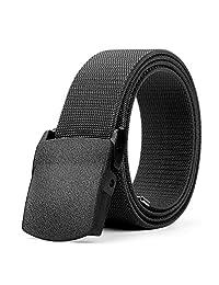 Men's Elastic Stretch Belt JASGOOD Outdoor Plastic Belt Black