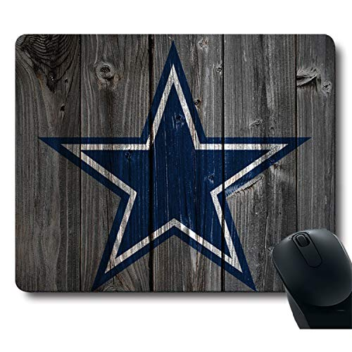 Vintage Wood Texture Background Passion Sparks Dream, Life Needs Sports Unique Design Non-Slip Rubber Gaming Mouse Pad ()