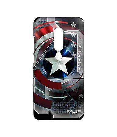 Macmerise Metallic Captain America Printed Back Cover for Xiaomi Redmi Note 4 Cases   Covers