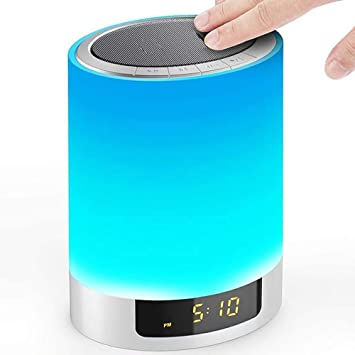 Bluetooth Speaker Night Lights Smart Touch Discoloration LED Light,Outdoor Speakers Bluetooth,Best Gifts for Girl,Boy,Baby Portable Wireless Bluetooth Speakers