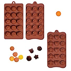 Poproo Flower Gummy Candy Molds - Set of 3, Silicone Mold, Chocolate Mold, Mint Mold, Ice Cube, 45-Cavity 6 <p>There are 15-cavity flowers on each mold. Comply with U.S. FDA quality, non-toxic environmental protection, temperature -40c to +230cDIMENSION: 8*4.33*0.75inch(the daisy), 8.25*4.13*0.63inch(the rose), 8.27*4.13*0.59inch(the tulip). Make candy, chocolate, jello, little candle, little soap, crayons, mints, frozen yogurt, hard candy, ice cube with fruit juice, cake decoration, party favors for birthday and more. Premium Silicone - Durable, Flexible, Long-lasting and Non-Stick. Pop Out Easily, Reusable For Up to 3,000 Uses. Multipurpose - Different shapes meet your demand to making various flower candy, jelly, gummy, soap, chocolate, mints, gelatin, fruit mass, freezing yogurt bite, ice cube, cake decoration, bath bomb. Great choice for baby shower favors, wedding favors and party favors for birthday. They are also funny sets for kids, teens and students Safe - Microwave safe, Oven safe, Refrigerator, Freezer and Dishwasher Safe. Temperature Safe from -40 to +446 degrees Fahrenheit (-40 to +230 degrees Celsius). Easy to use and clean. DIMENSION: 8*4.33*0.75inch(the daisy), 8.25*4.13*0.63inch(the rose), 8.27*4.13*0.59inch(the tulip). Value Set - 3 silicone molds make 45 candies at a time. It has flowers blossom shapes such as rose, tulip, sunflower, chrysanthemum, lotus, plum flower and rose in bloom.</p>