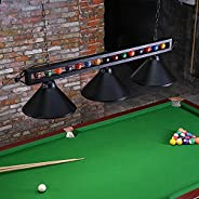 "Wellmet Pool Table Light, 59"" Billiard Lighting for Snooker Table, Hanging Adjustable Ceiling Light Fixture wi"