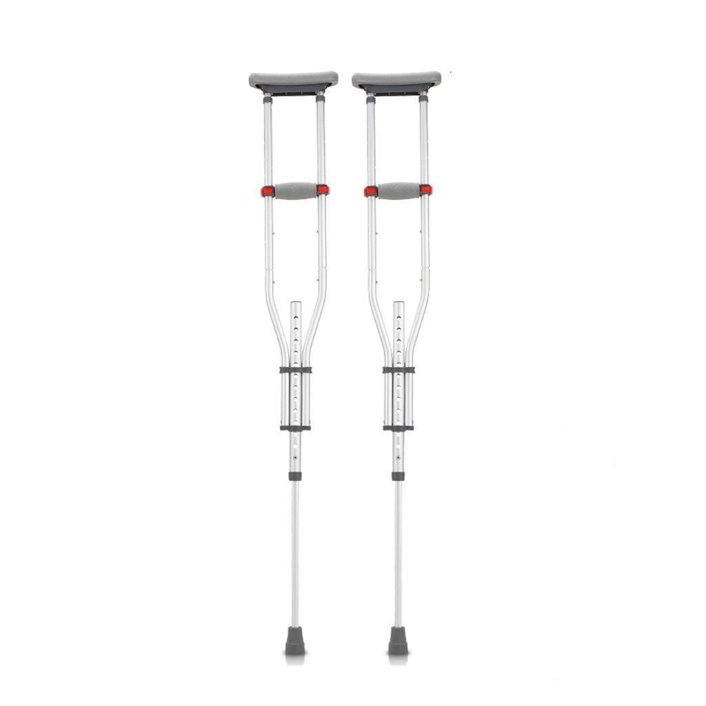 NUBAO 障害を持つ人のための障害を持つ松葉杖は、98-159 Cm(35.58-62.60インチ)の調節可能な範囲で柔軟に折り畳むことができます。 (色 : ダブル) B07D2DP5M8 ダブル