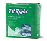 FitRight Plus Adult Briefs with Tabs, Moderate Absorbency, XX-Large, 60''-69'' (Pack of 20)