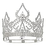 DcZeRong Women Crowns Queen Crowns For Women Prom Pageant Party Rhinestone Crystal Full Crowns