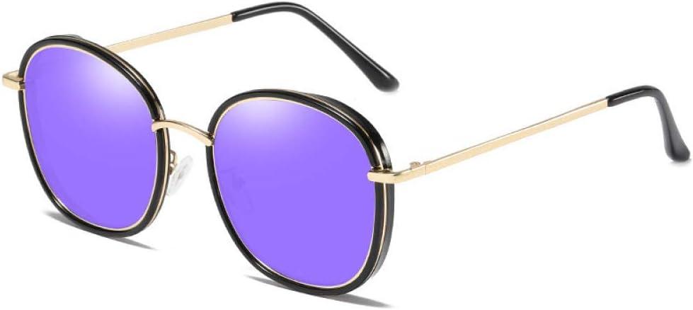 Occhiali da sole da donna di alta qualità montatura ovale vintage occhiali da sole polarizzati lenti a specchio rivestimento occhiali da sole per donna-Tartaruga Nera Blu