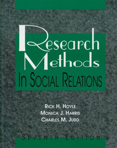 Research Methods in Social Relations by Hoyle,Rick H.; Harris,Monica J.; Judd,Charles M.. [2001,7th Edition.] Hardcover