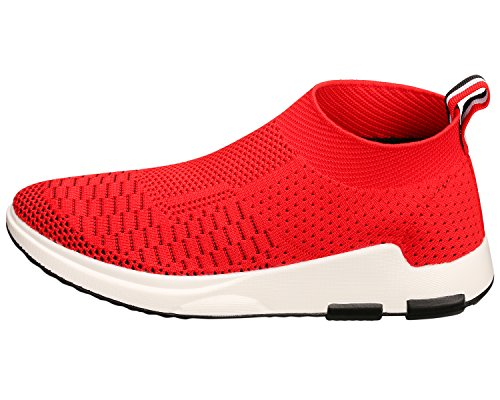 Slip Sports Lightweight Athletic Sneakers Shoes Breathable SANMIO Shoes Women¡¯s Red On Casual nSqFw8ntRC