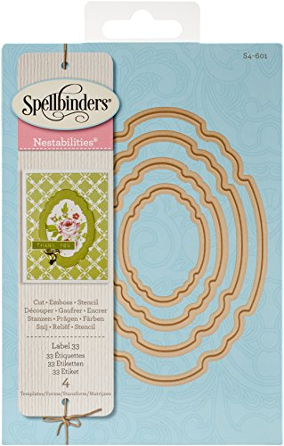 Spellbinders Nestabilities Label 33 Etched Dies, Brown