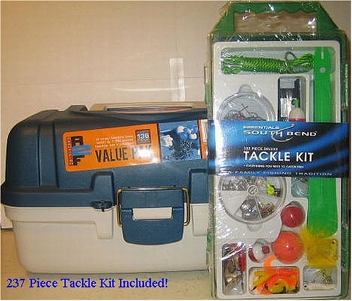 Plano Tackle Box - 2 Trays - 273 Piece Tackle Kit Included! (Plano Terminal)