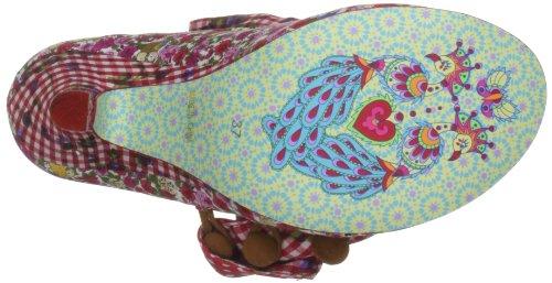 Irregular Choice Women's Zapatos Tacón Flick Flack Mary Janes Rojo