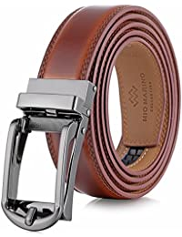 Marino Men's Genuine Leather Ratchet Dress Belt with Open Linxx Buckle, Enclosed in an Elegant Gift Box