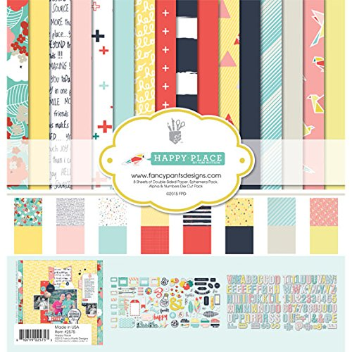 Fancy Pants Designs, 2575, Happy Place Collection Kit (Scrapbooking Lot Scrapbook Paper)