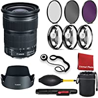 Canon EF 24-105mm f/3.5-5.6 IS STM Lens with 3 Peice Filter Kit,Blower, Lens Hood, Lens Pen, Case, Cap Keeper, Cleaning Cloth, 3 Piece Macro Closeup Kit